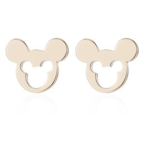 Gold Colored Mickey Mouse Earring Studs